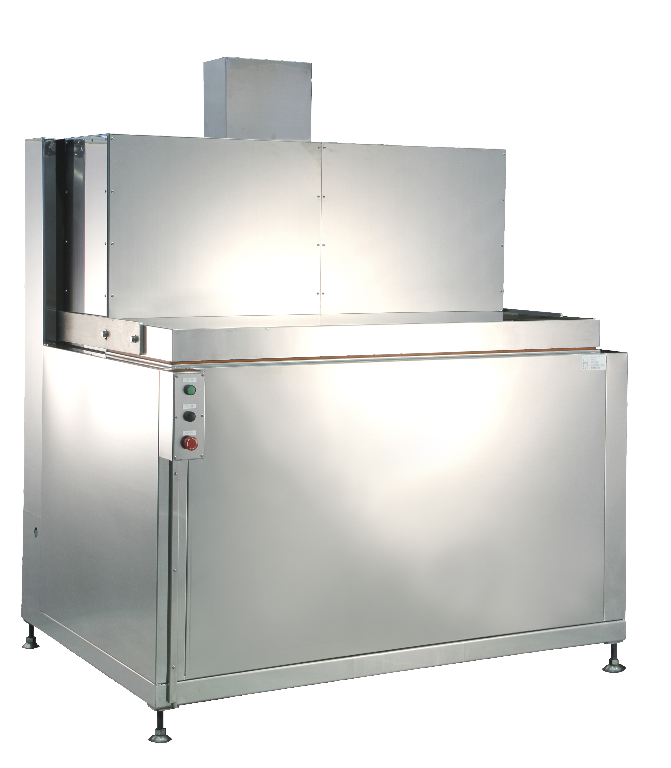 Image of our liquid based freezer model RF-30 which can freeze 30 kg (66 lbs) per hour