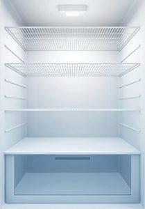 inside of a freezer
