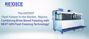 Rejoice flash freezer features