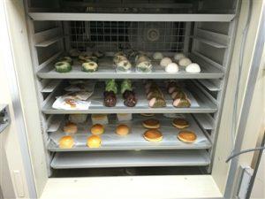 和菓子冷凍測試 示意圖