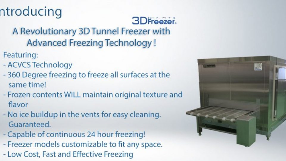 3d tunnel freezer model
