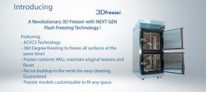 3D freezer features