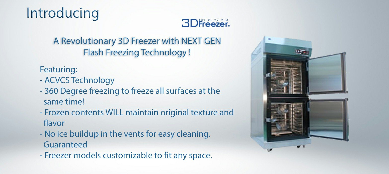 3D freezer features