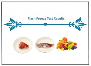 Flash Freezing Test results images