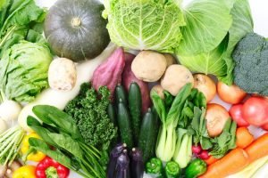 sayuran segar sebelum dibekukan