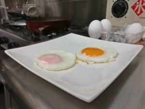 sunny side up eggs on plate