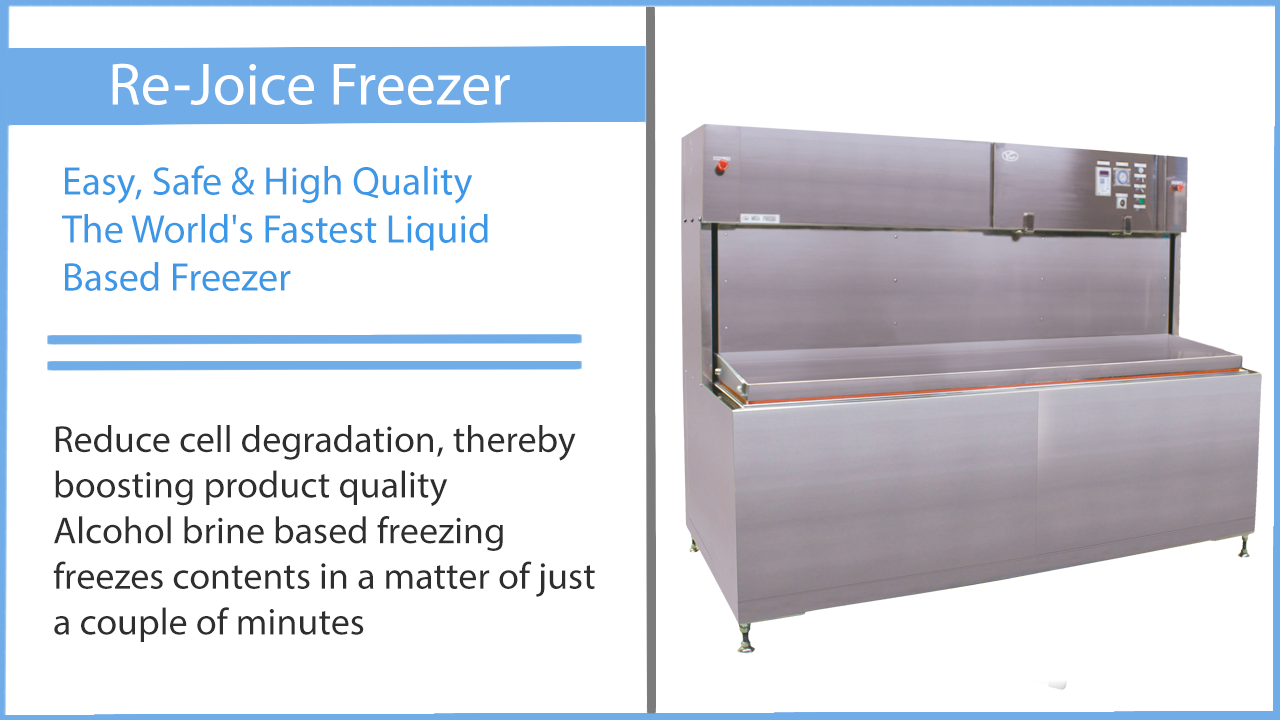 Rejoice freezer liquid flash freeze technology
