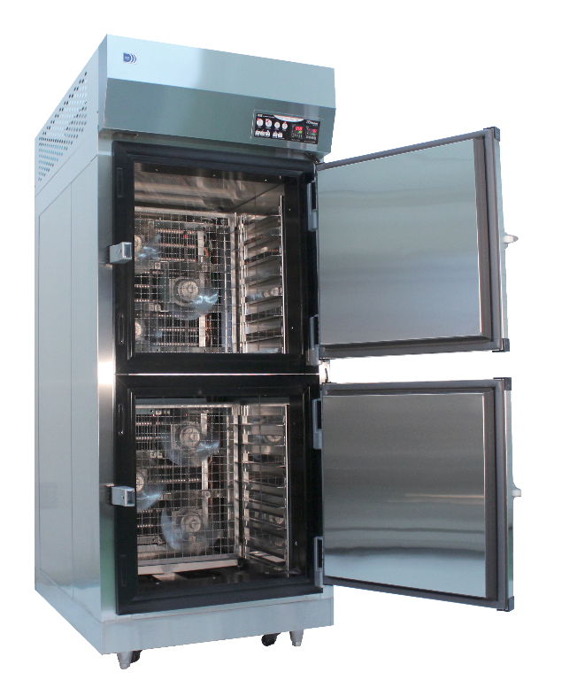 Flash freezer model KQF-16A of 3D freezer line up shown with open doors